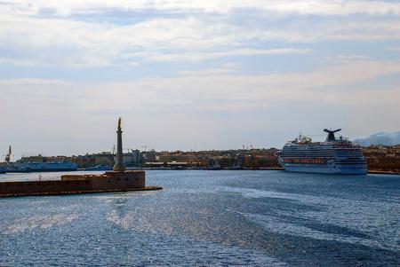 Scenic view of the Italian port of Messina, Sicilia Editorial
