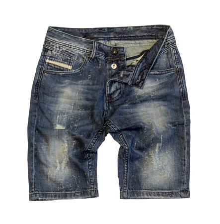 Denim shorts isolated on white background Stock Photo