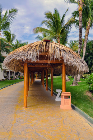 Punta Cana, Dominican Republic - March 19, 2010: Territory of Hotel Catalonia Royal Bavaro in Punta Cana Editorial