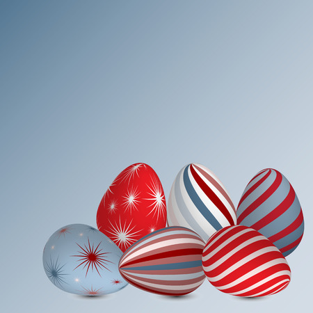 Background of colourful Easter eggs. Vector illustration