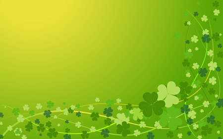 Background from the leaves of the clover to St. Patricks Day. Vector illustration