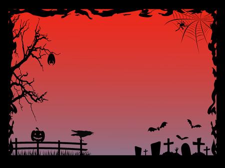 Halloween fram. Vector illustration Ilustração