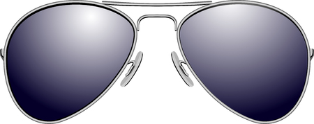 Black sunglasses. Vector illustration