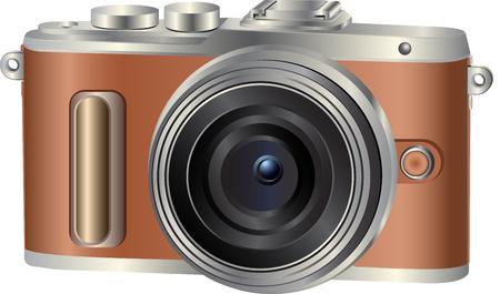 Realistische Fotokamera. Vektor-Illustration Vektorgrafik