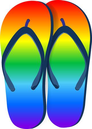 Beach sandals. Vector illustration