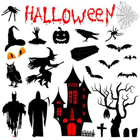Clipart for illustrations for Halloween. Vector illustration