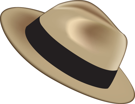 Realistic man hat. Vector illustration Ilustração