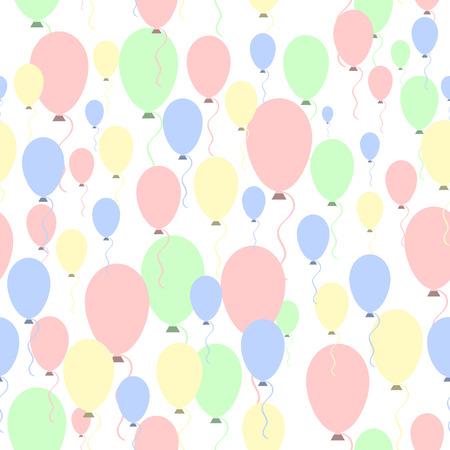 Air balloons pattern. Vector illustration