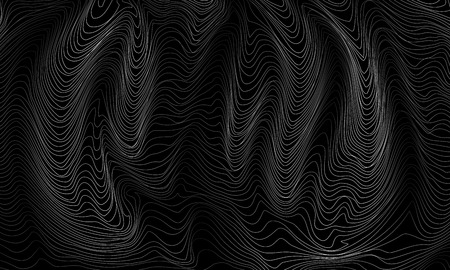 Black and white abstract pattern with waves. Vector illustration Banco de Imagens - 126932757