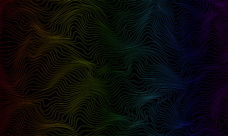 Color abstract pattern with waves. Vector illustration