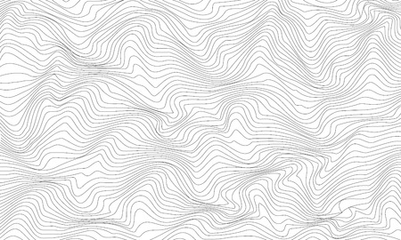 Black and white abstract pattern with waves. Vector illustration Banco de Imagens - 126932760