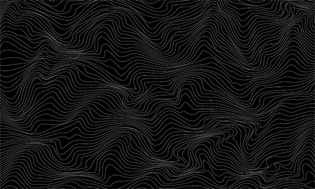 Black and white abstract pattern with waves. Vector illustration