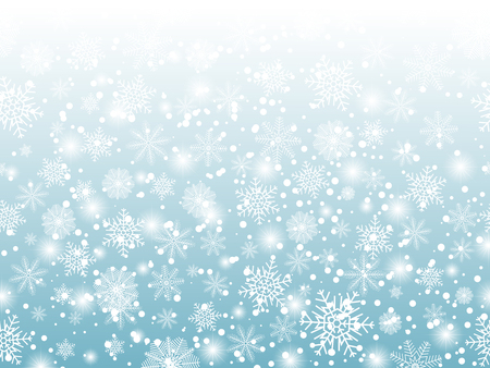 Snowflake christmas and new year seamless pattern. Vector illustration Banco de Imagens - 126932773