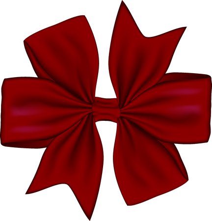 Red gift bow isolated on white background. Vector illustration Banco de Imagens - 123758133