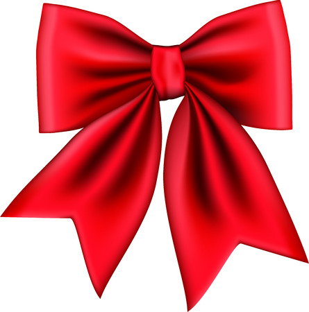 Red gift bow isolated on white background. Vector illustration Banco de Imagens - 123757990