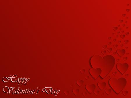Valentine Day Heart on Red Background. Vector illustration Banco de Imagens - 123757999