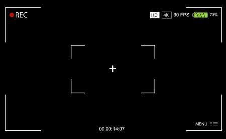 camera viewfinder screen vector design