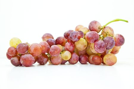 Fresh Colored Grapes isolated on a white background