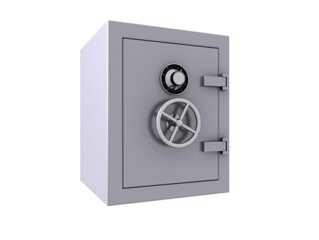 3D render of a closed bank vault