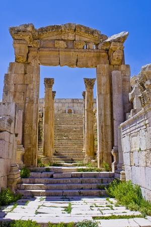 stairway to Artemis temple Stock Photo