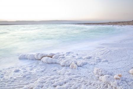 Dead Sea Salty shore in Jordan