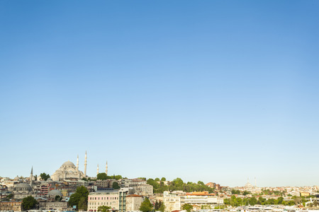 Wide view of Istanbul cityscape, with plenty of copy space  Istanbul, Turkey