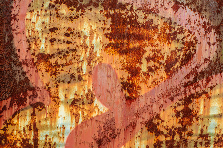 alluminum: Old rustic iron wall with cracked paint