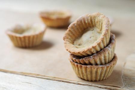 tarts: little homemade oat tarts Stock Photo
