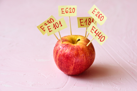 Apple Fruit with natural E additives. Healthy food concept