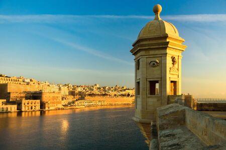 View to Valletta from Gardjola Gardens, Senglea, Malta