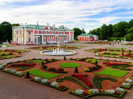 Tallinn, Estonia - August 26, 2020: Kadriorg park and palace at autumn day Editorial