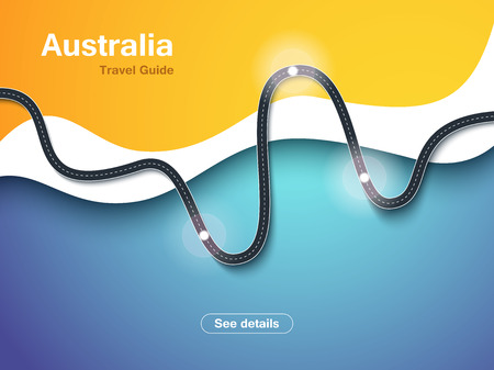 Road trip and Journey route background. Modern background with travel infographic. Winding roads. Usable for web. Road way location infographic Vektoros illusztráció