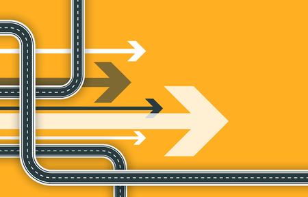 未来的なロードマップの背景。抽象的なGPSナビゲーションバナー。曲がりくねった道路インフォグラフィックテンプレート。ロードトリップと旅路 写真素材 - 106231128