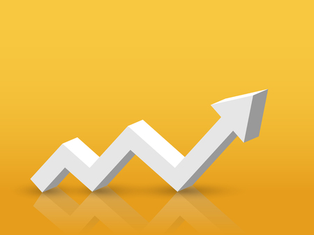 3D Arrow Growth Up Concept. Infographic Template for business background Illusztráció