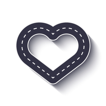 Heart shape road icon. Infographic template