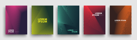 Simple Modern Covers Template Design. Set of Minimal Geometric Halftone Gradients for Presentation, Magazines, Flyers, Annual Reports, Posters and Business Cards Stock fotó - 106231432