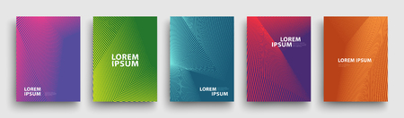 Simple Modern Covers Template Design. Set of Minimal Geometric Halftone Gradients for Presentation, Magazines, Flyers, Annual Reports, Posters and Business Cards 스톡 콘텐츠 - 106231434