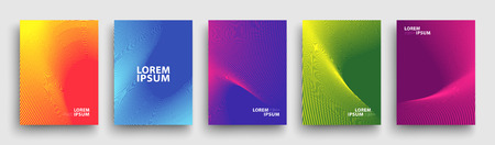 Simple Modern Covers Template Design. Set of Minimal Geometric Halftone Gradients for Presentation, Magazines, Flyers, Annual Reports, Posters and Business Cards 스톡 콘텐츠 - 106231456