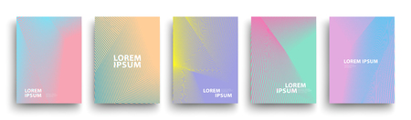 Simple Modern Covers Template Design. Set of Minimal Geometric Halftone Gradients for Presentation, Magazines, Flyers, Annual Reports, Posters and Business Cards
