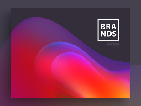 Modern Covers Template Design. Fluid colors. Trendy Holographic Gradient shapes for Presentation, Magazines, Flyers, Annual Reports, Posters and Business Cards Illusztráció