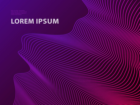 Futuristic Template Design Background. Modern Abstract 3D Line Geometric Halftone Gradients for Presentation, Magazines, Flyers, Placards, Posters, Banners and Business Cards