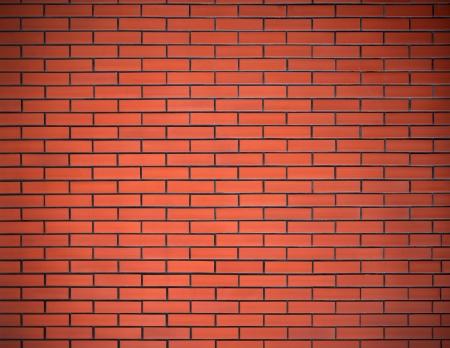 새로운 주황색 벽돌 벽의 그림 스톡 콘텐츠