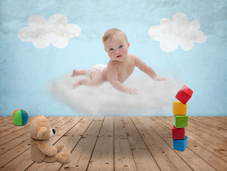 felicity:  baby on a cloud in the room