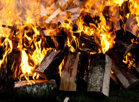 Detail of burning fire Imagens