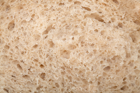 Macro image of structure of freshly baked bread