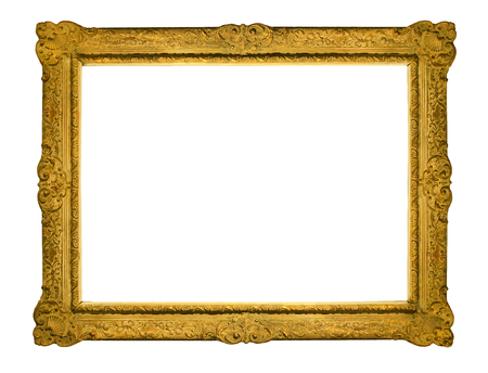 Picture of empty golden frame Stock Photo