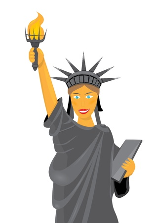 cartoon statue of liberty.  photo