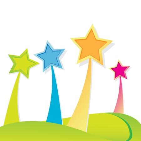 estrella caricatura: color de fondo de estrellas.