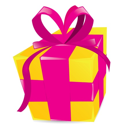 golden gift box. Vector