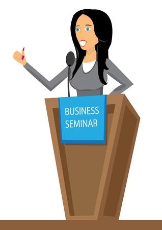 Presentation. Business seminar. Speaker. illustration.